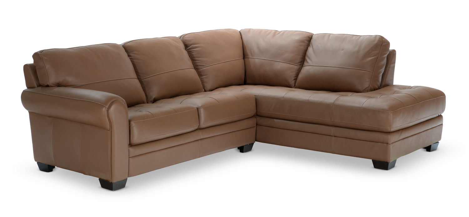 norman piece leather modular sectional  hom furniture  - norman piece leather modular sectional