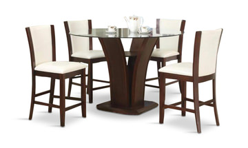 Image Camelia Gathering Height Table With 4 Stools   White