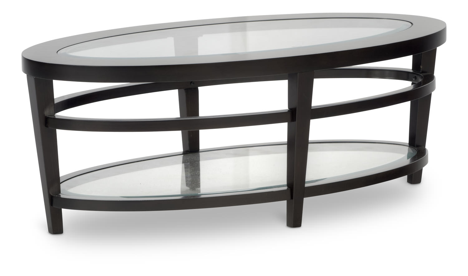 Urbana oval coffee table hom furniture for Table urbana but
