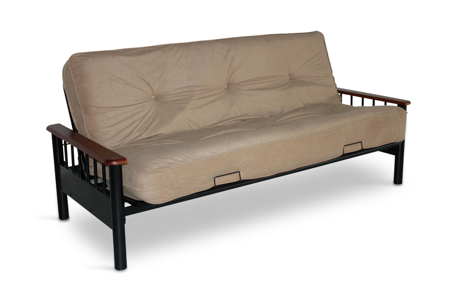 spacer bennett futon frame with innerspring futon mattress