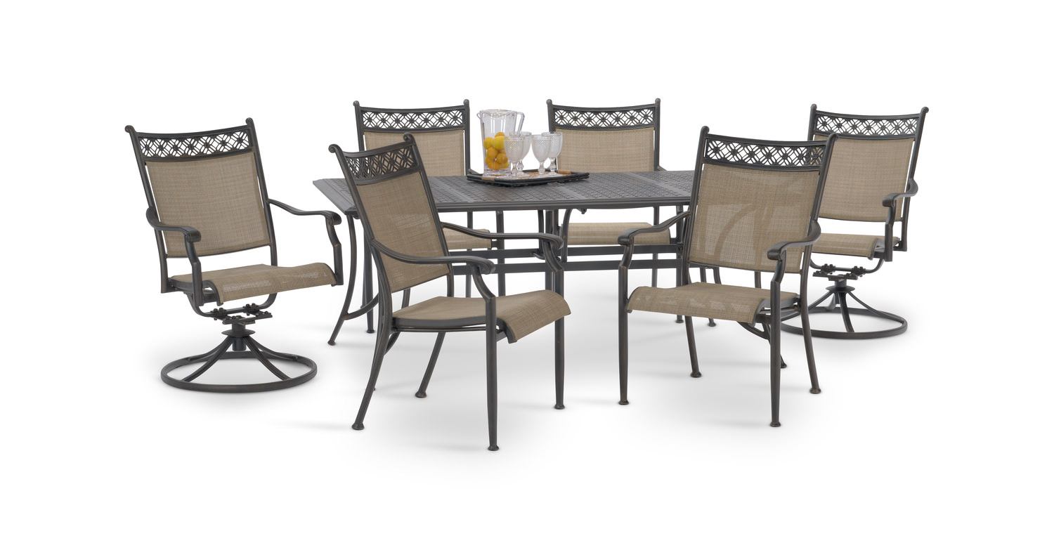 7 piece patio sets home design ideas and pictures for Home design 6 piece patio set