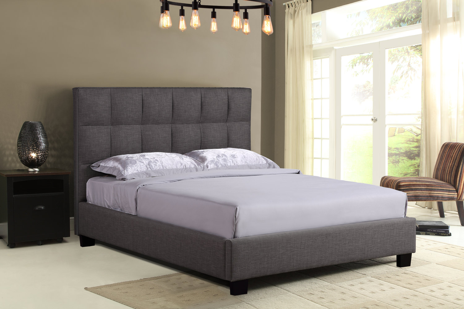 The Loft Queen Bed Grey