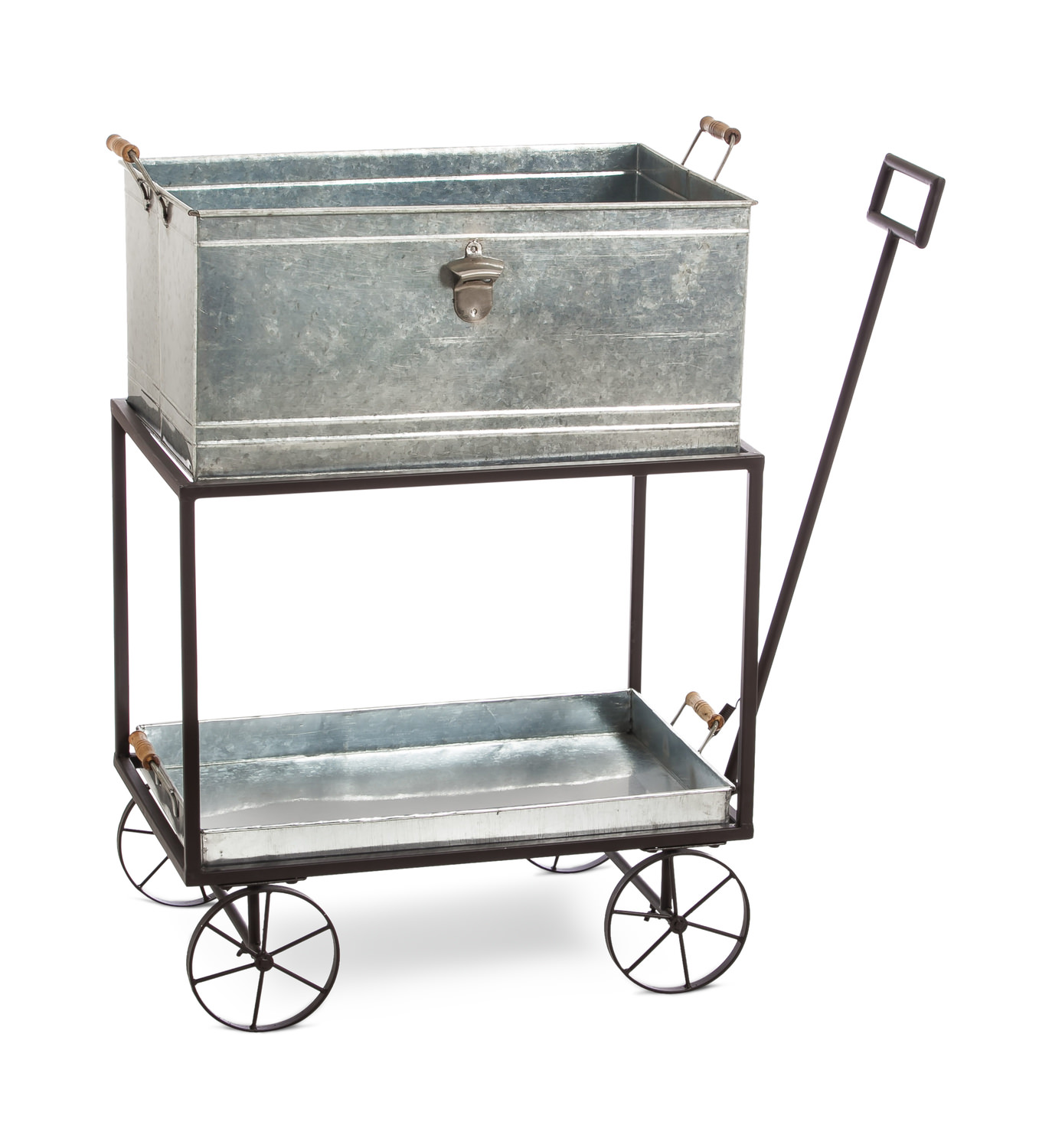 Galvanized Cooler Cart Hom Furniture