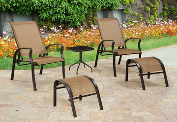 Outdoor living patio chairs lounges hom furniture for Hom furniture tent sale