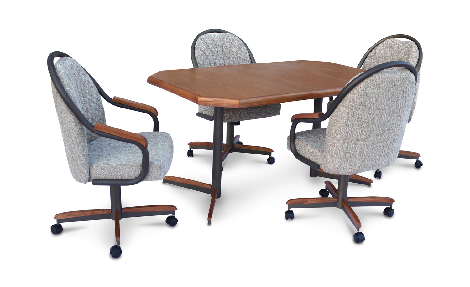 Sara kitchen table and 4 sara fusion caster chairs hom for Kitchen table and 4 chairs