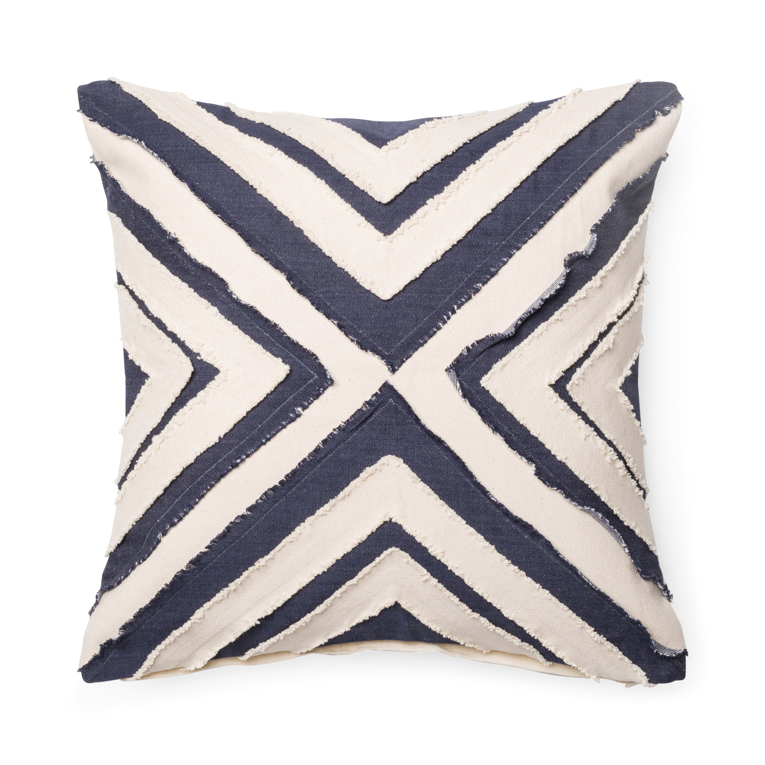 Navy White Triangle Pillow Hom Furniture