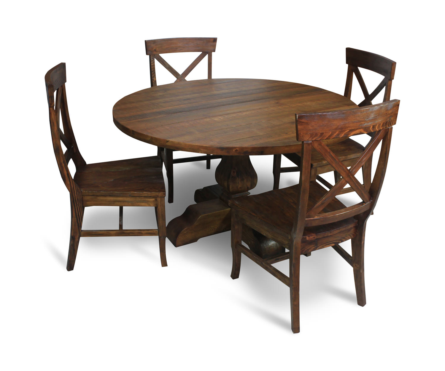 Pineridge 54 Round Table With 4 Chairs Hom Furniture Furniture Stores In Minneapolis