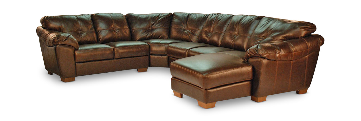 Phoenix 4 Piece Leather Sectional