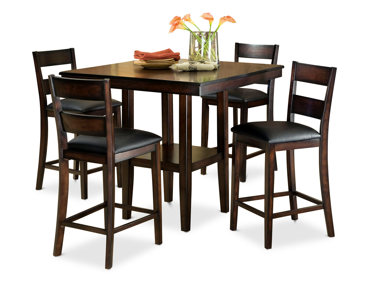 Pendleton Dining Table With 4 Counter Stools Hom Furniture