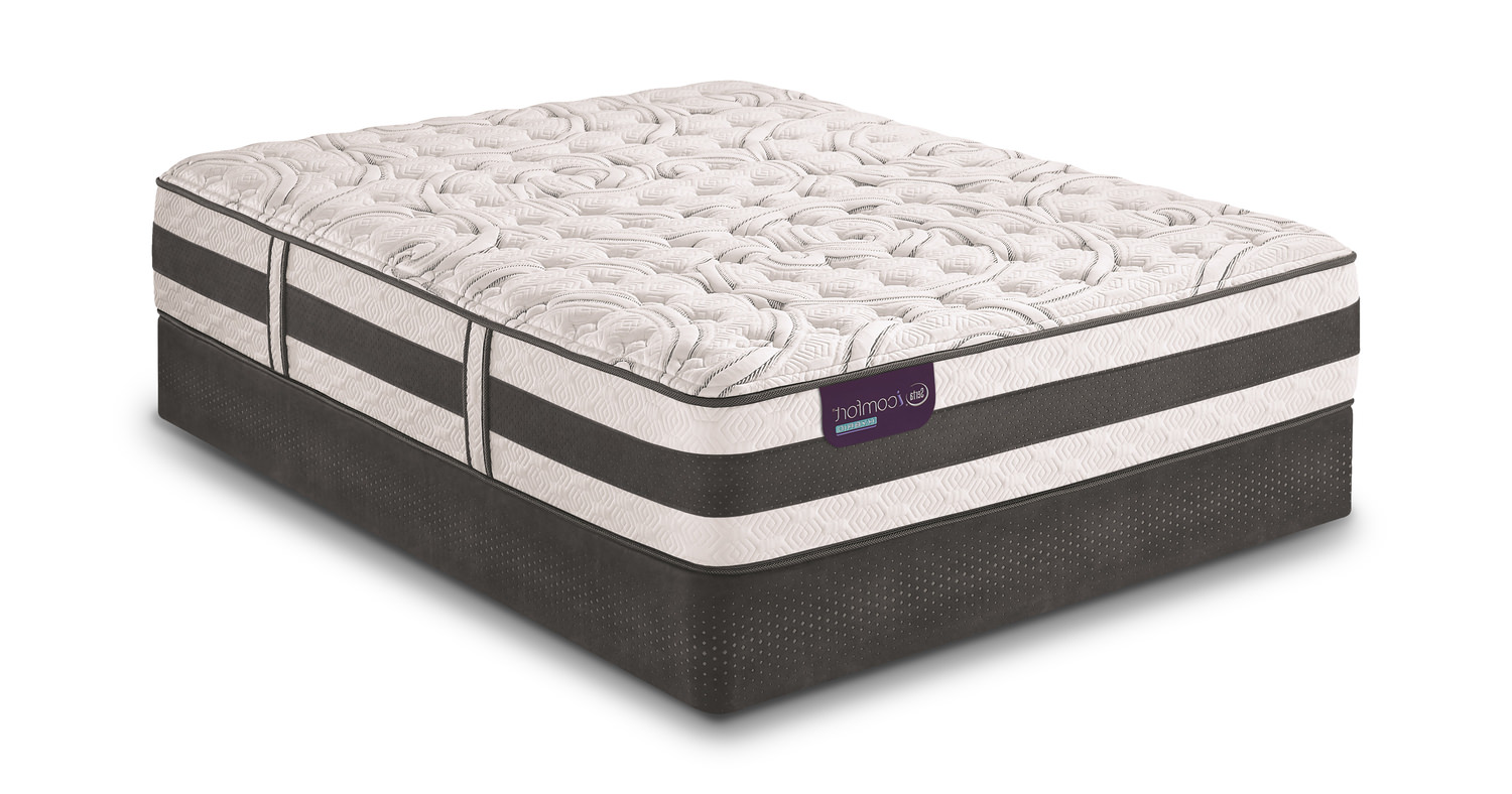 Applause Ii Firm Queen Mattress Set With Low Profile Foundation Hom Furniture Furniture