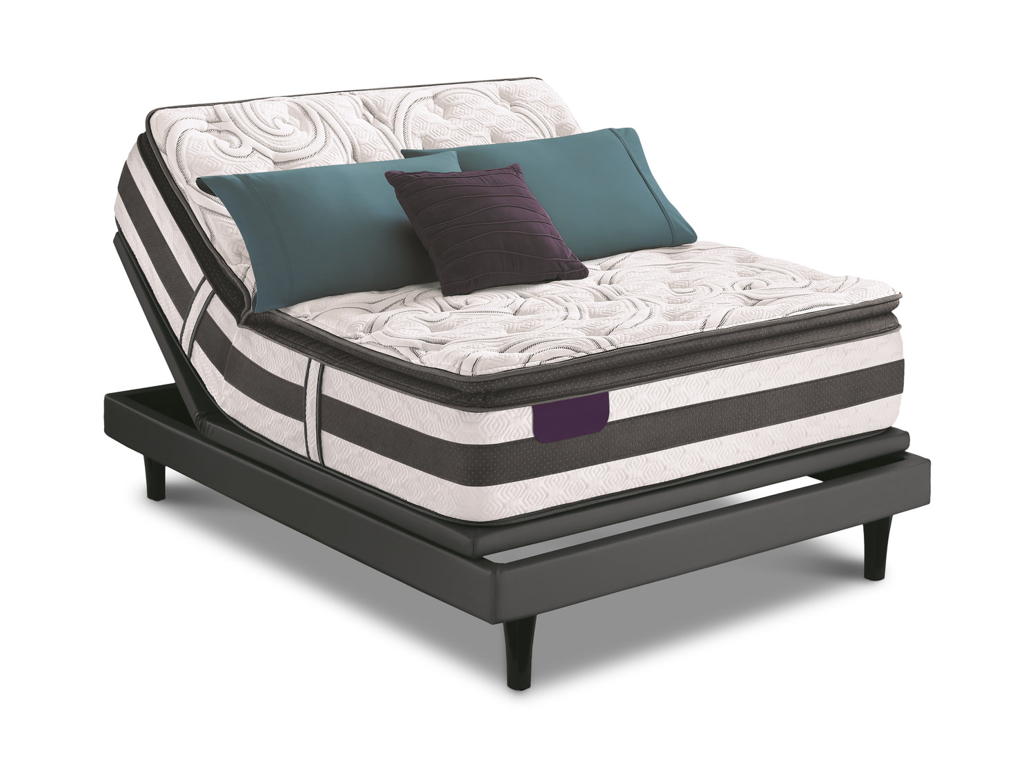 Observer Spt Queen Mattress Set With Mp3 Adjustable Base By Serta Dock86
