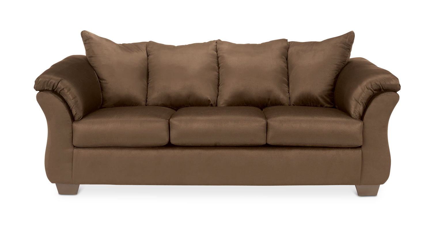 Chocolate brown microfiber motion recliner loveseat sofa for Chocolate brown microfiber sectional sofa