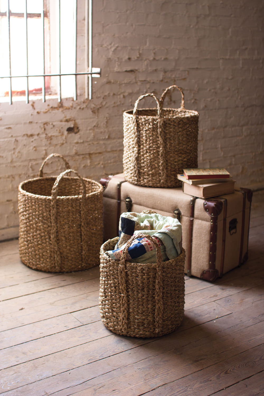 Marvelous Seagrass Storage Baskets   Set Of 3 ...