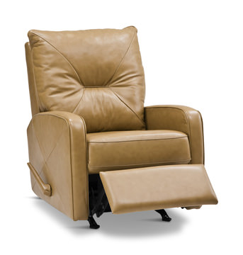 Image Theo Leather Swivel Rocker Recliner