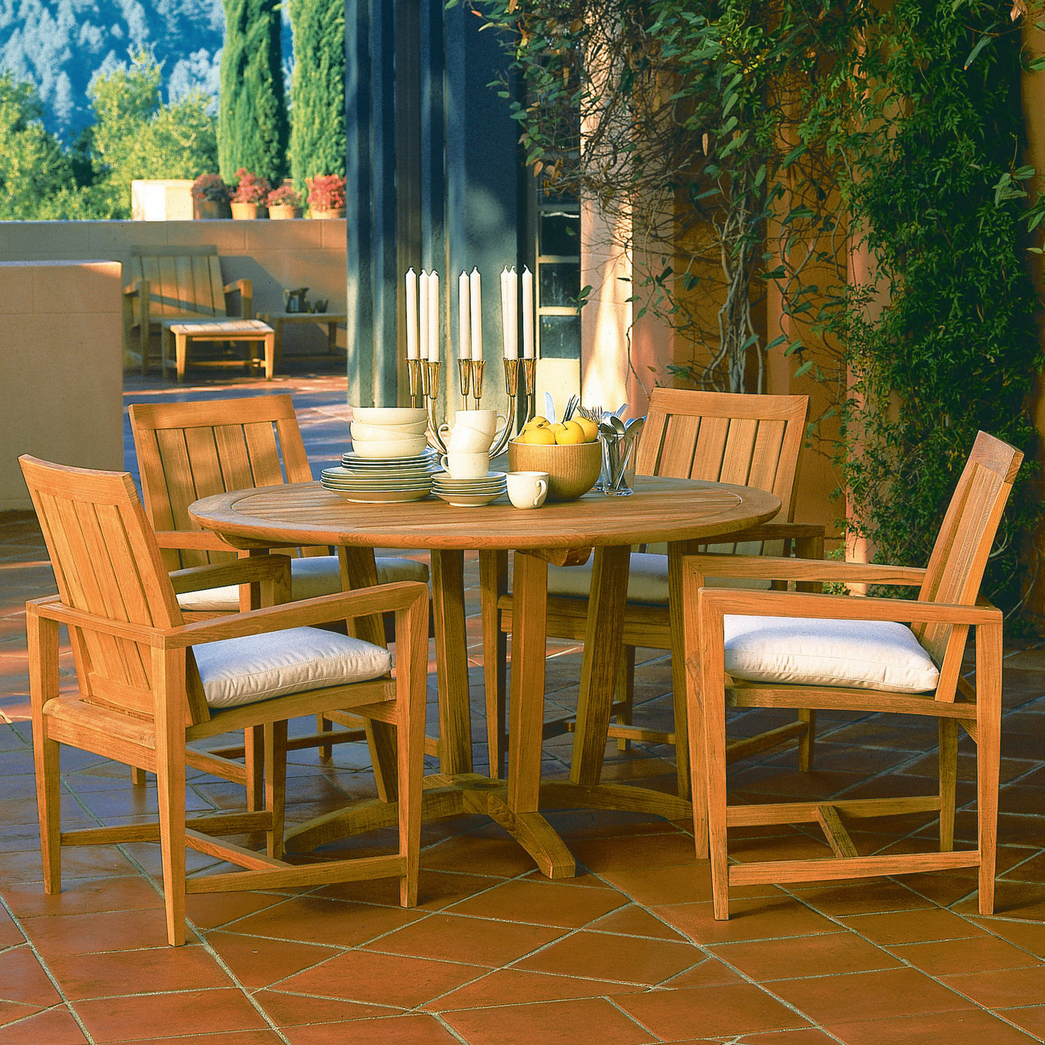 Amalfi 5-PC Dining Set - Teak ... - Amalfi 5-PC Dining Set - Teak By Kingsley-Bate Gabberts