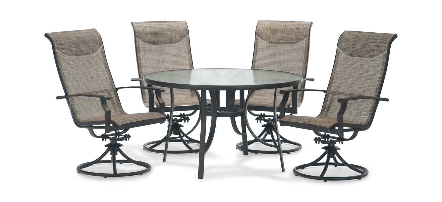 Creekside 5 piece patio dining set by furniture creations for Outdoor furniture direct