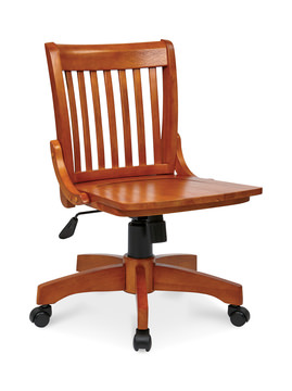 Image Deluxe Armless Wood Bankers Chair