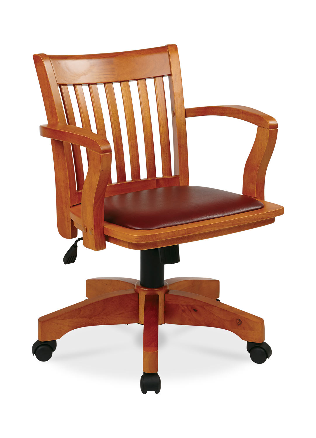 Deluxe Wood Bankers Chair W Arms Hom Furniture