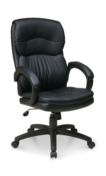 Image High Back Executive Chair With Padded Arms