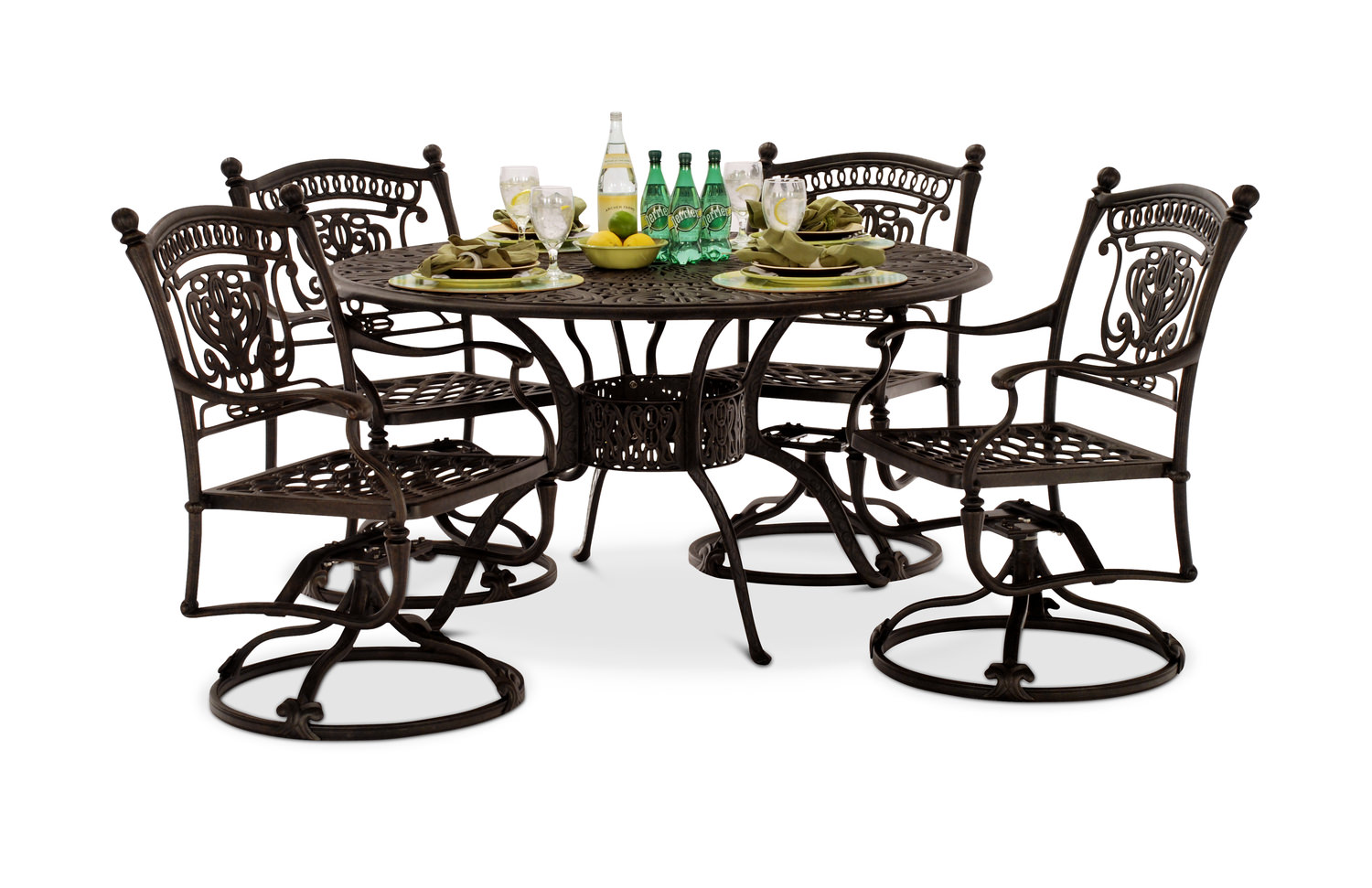 Turin 5 Piece Swivel Patio Dining Set By Hanamint Gabberts
