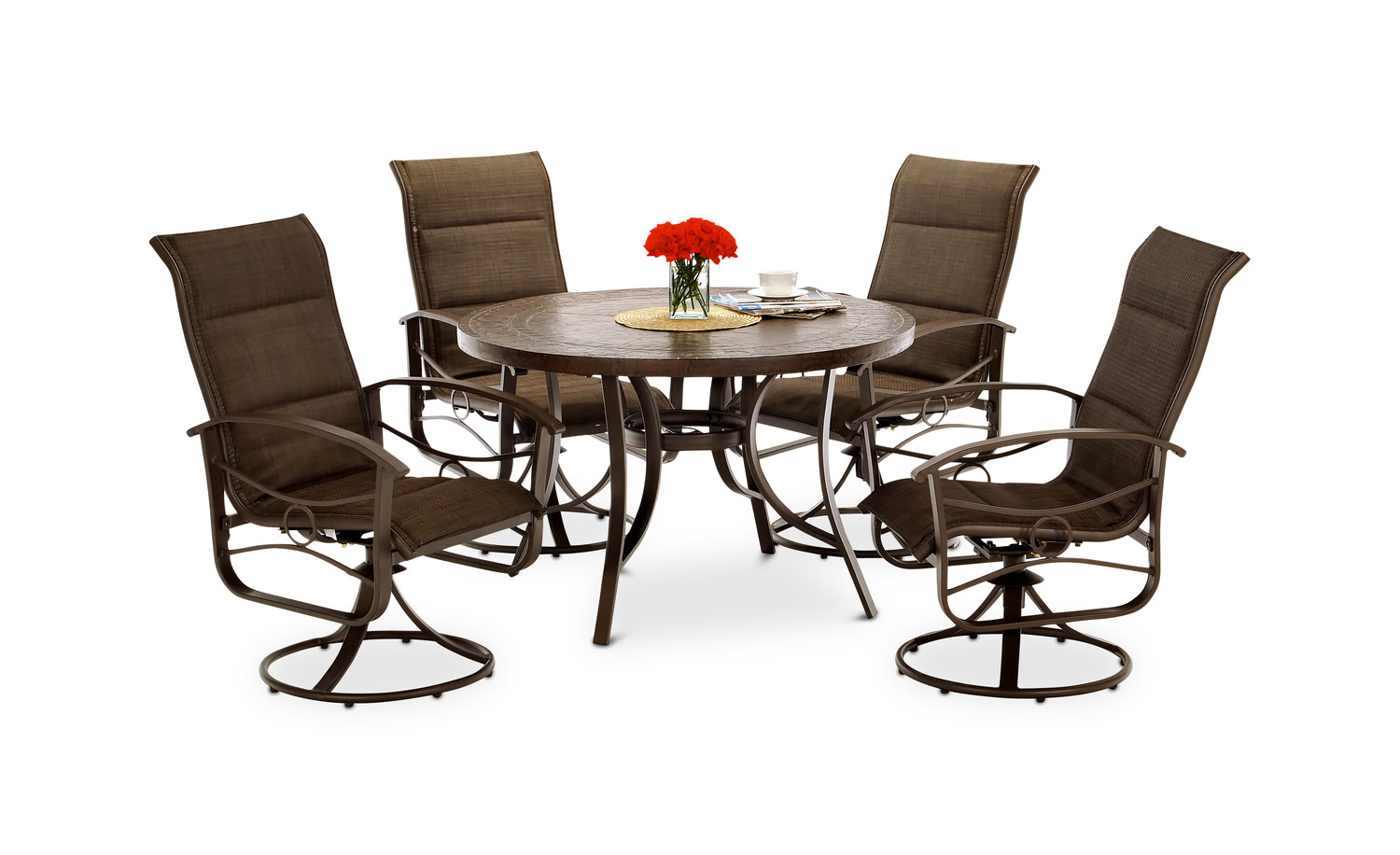 5 pc patio dining set home design ideas and pictures for Home design 6 piece patio set