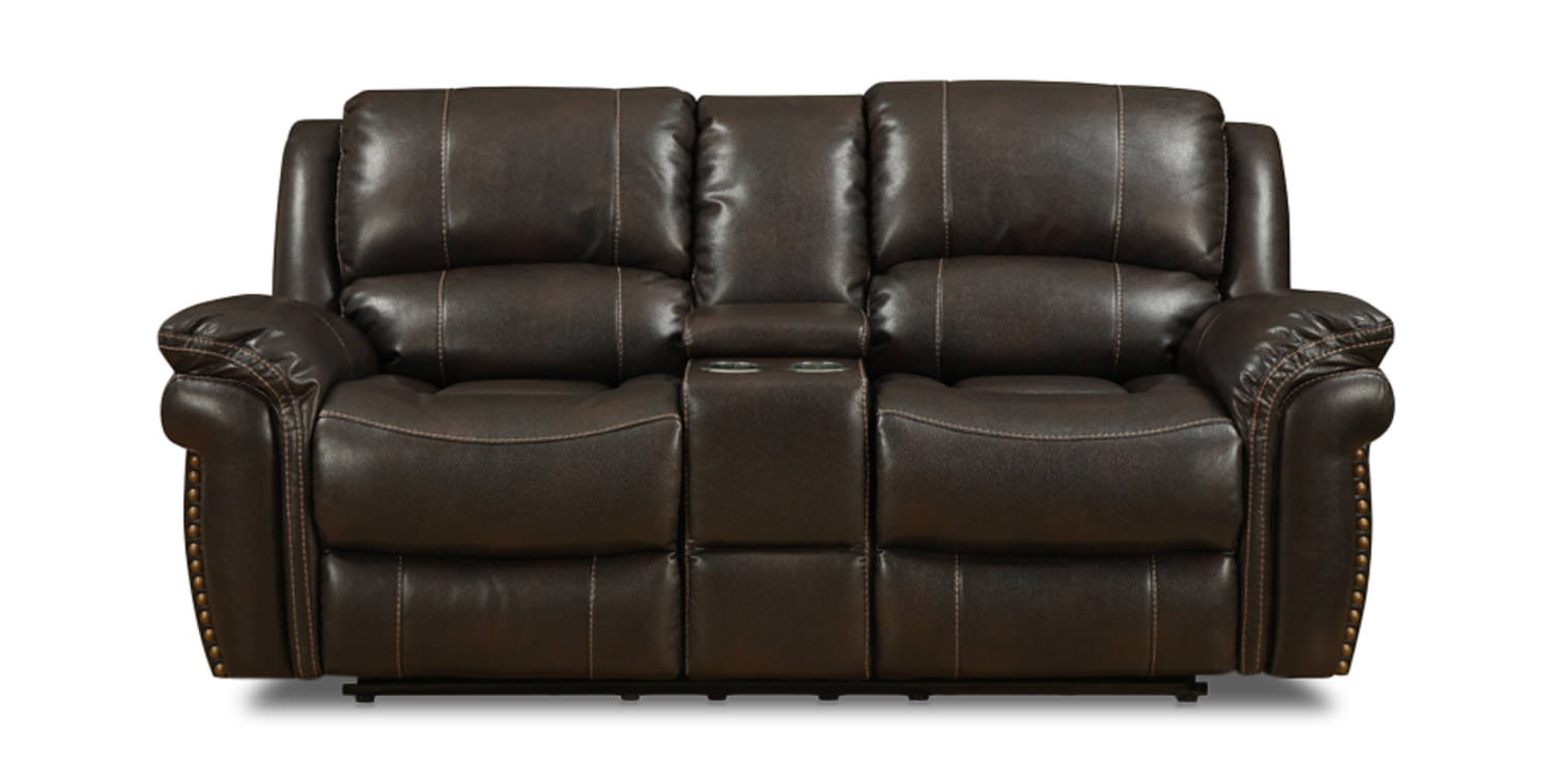 Rivera reclining loveseat with storage console dock86 Storage loveseat