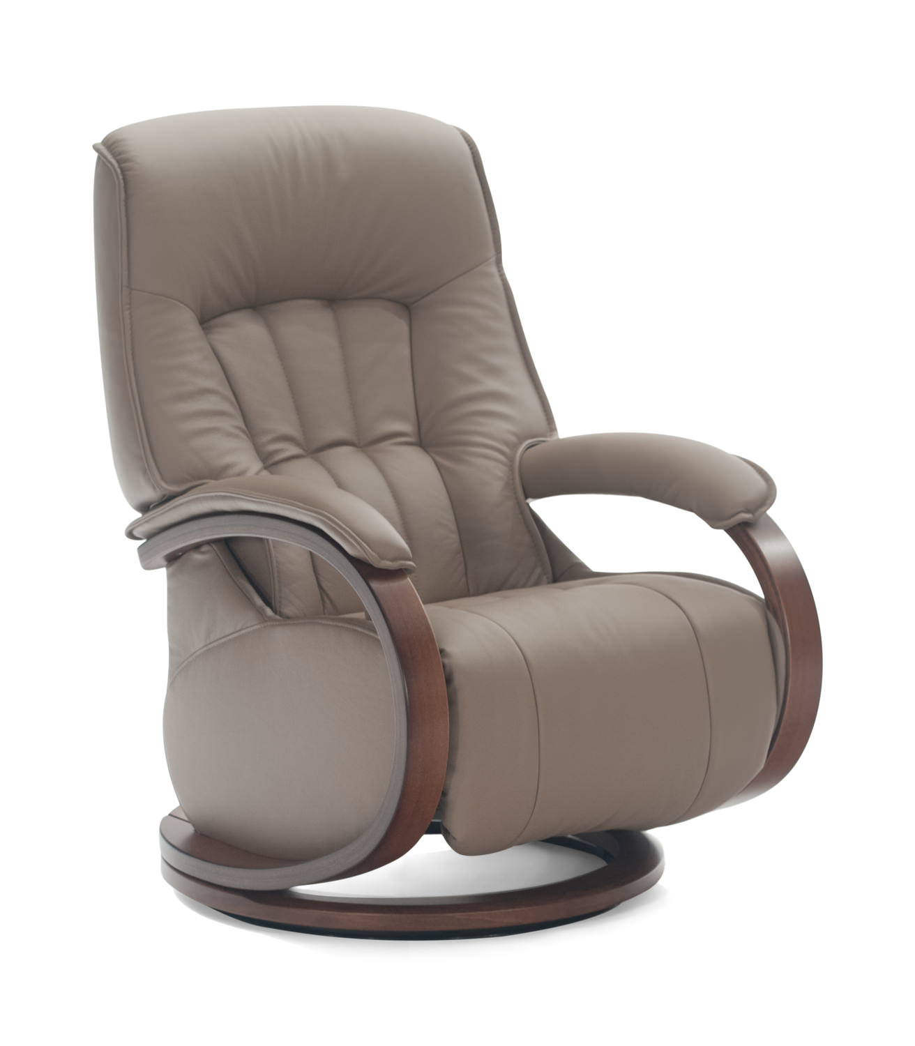 Mosel Leather Swivel Recliner By Zerostress Hom Furniture