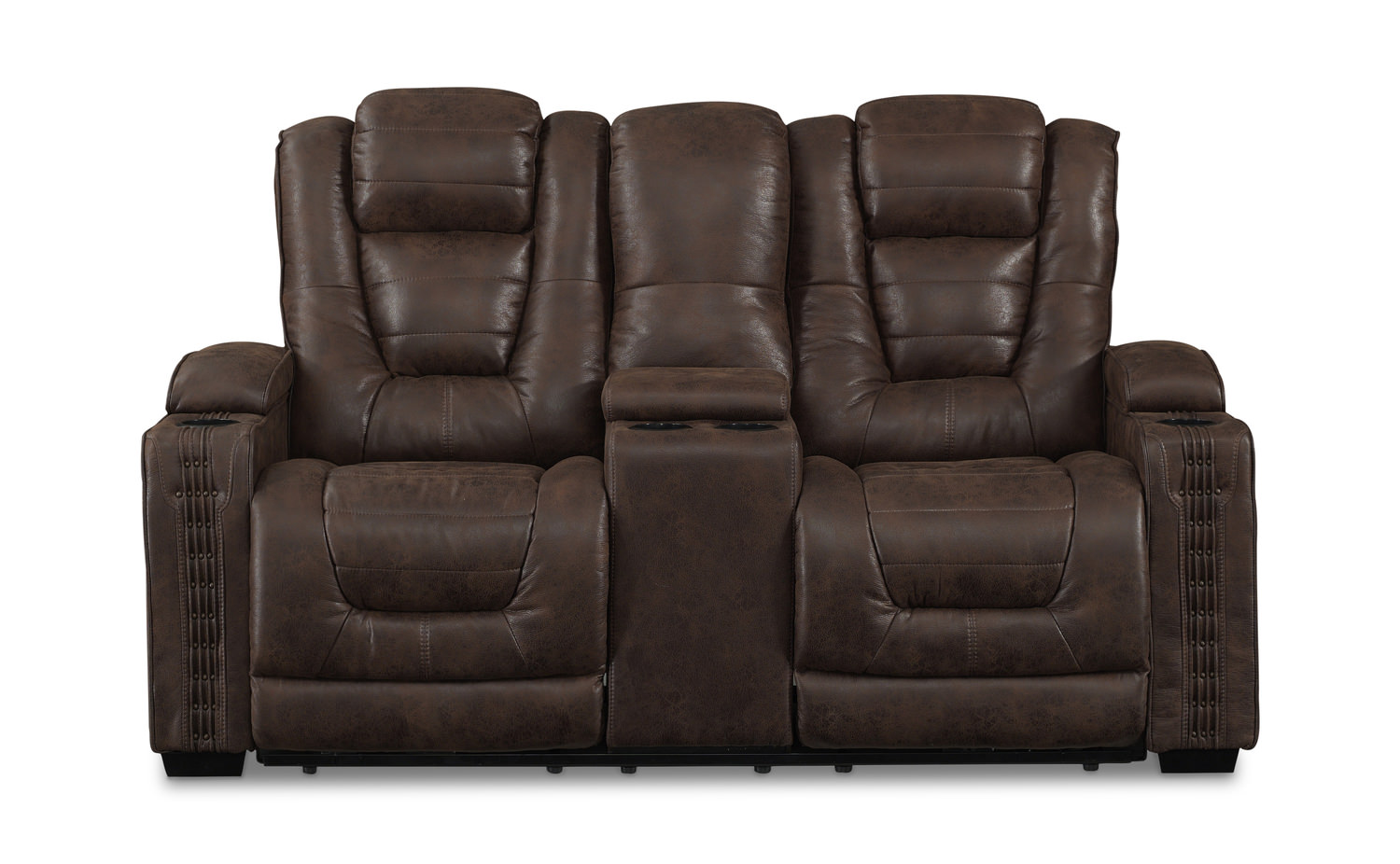 Attractive Morph Power Reclining Loveseat With Console ...