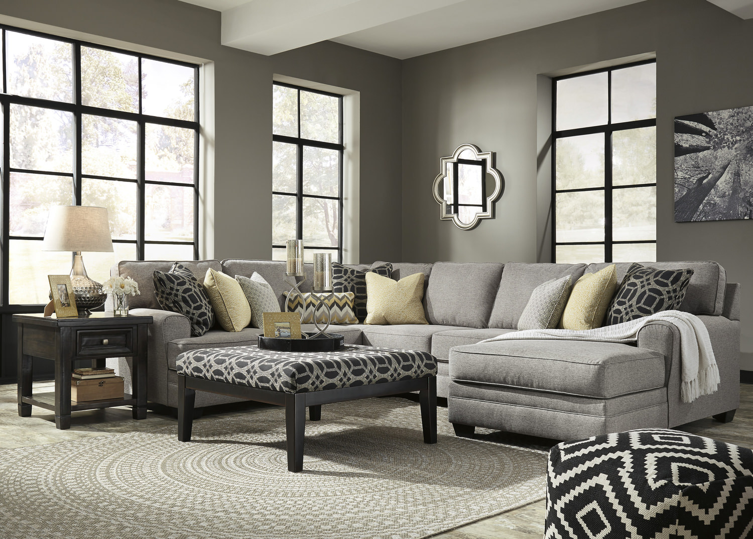 City 4 Piece Sectional ...