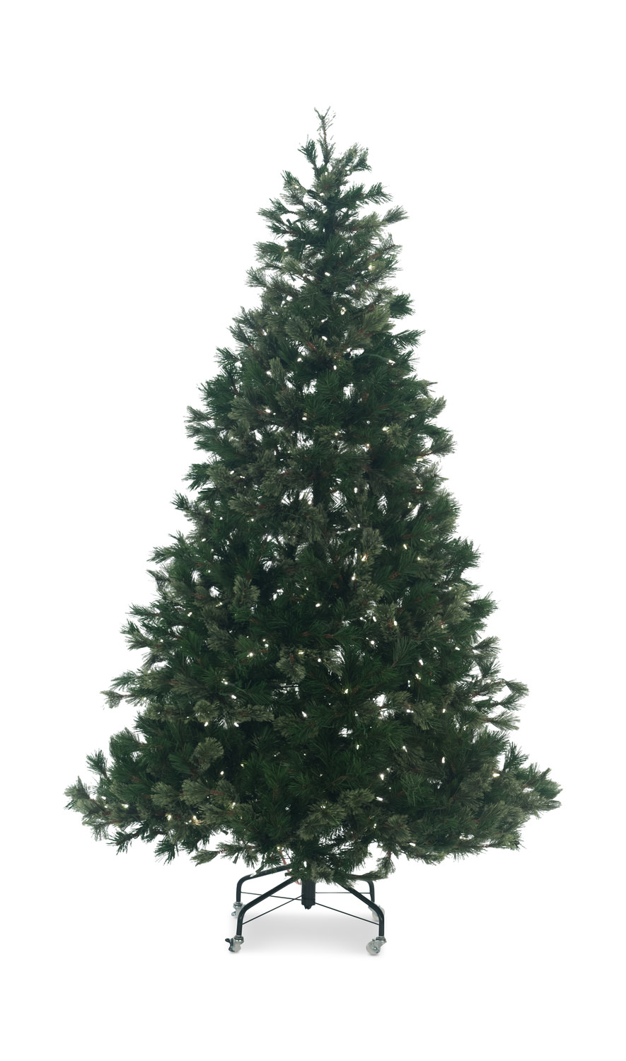 bristle pine 75 pre lit artificial christmas tree led lights