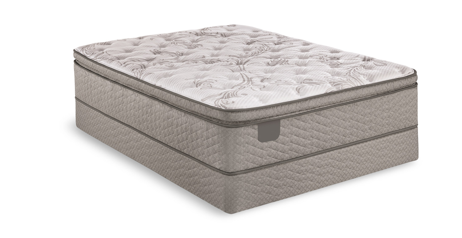 Galer Lane Pillowtop Mattress Set With Low Profile Foundation By Serta Hom Furniture