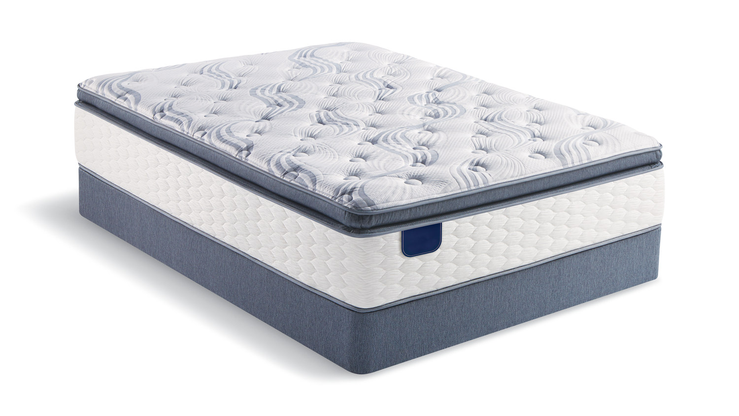 Ambrosial Pillow Top Queen Mattress Set with Low Profile Foundation ...