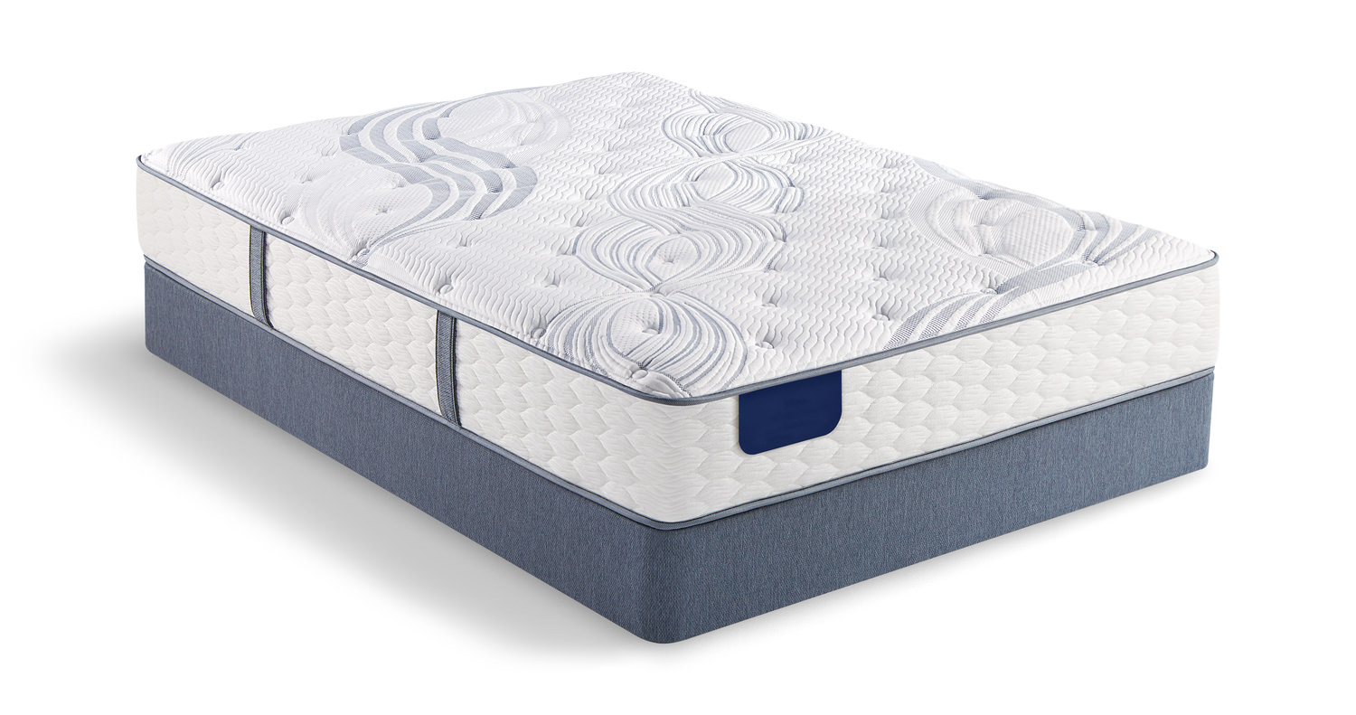 Hearn Luxury Firm Mattress Set With Low Profile Foundation By Serta Hom Furniture