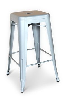 Image Arty Counter Stool Silver