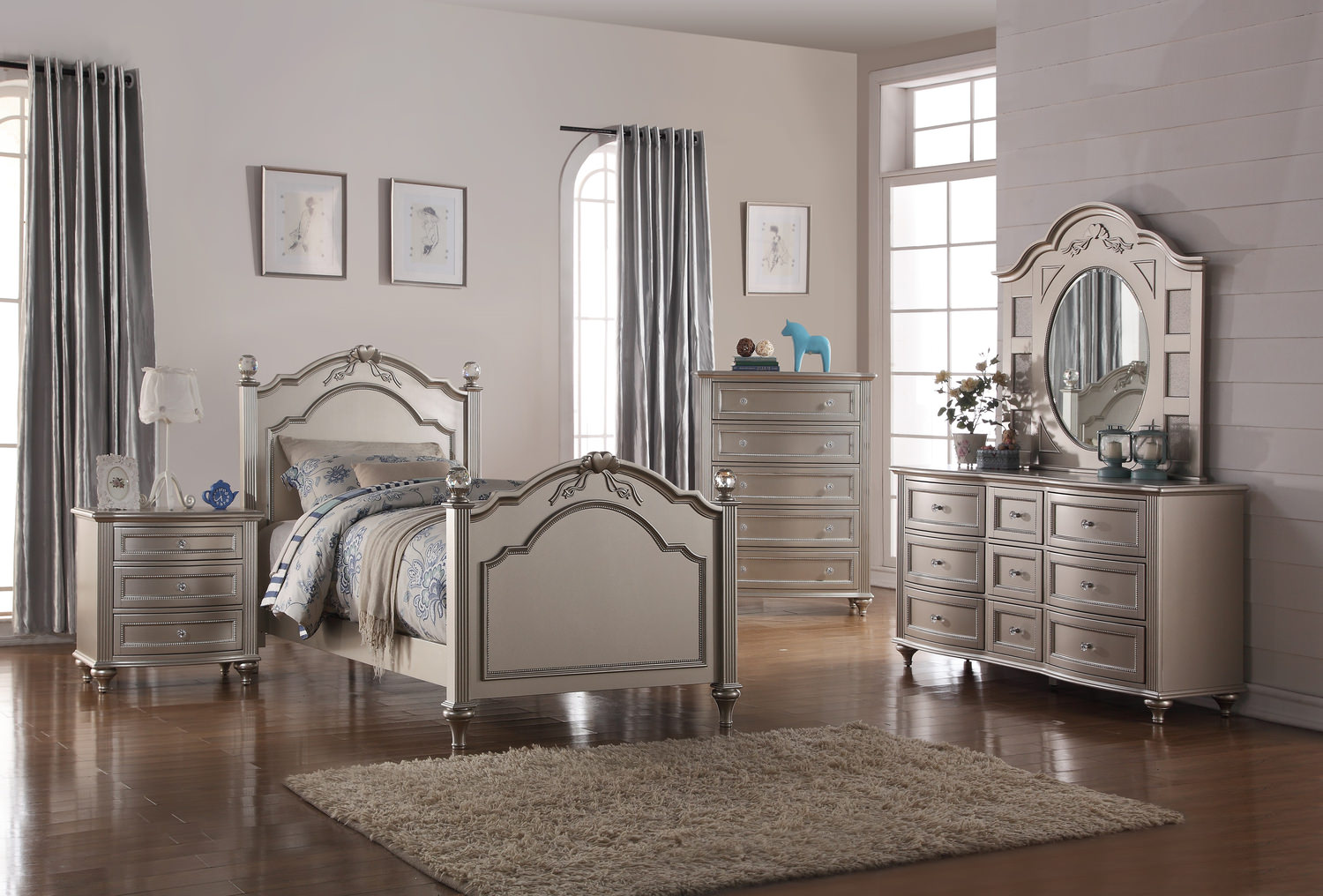 Chantilly Bedroom Suite Silver By Thomas Hom Furniture