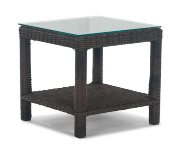 Outdoor Furniture Wicker Rattan HOM Furniture - Gray wicker coffee table