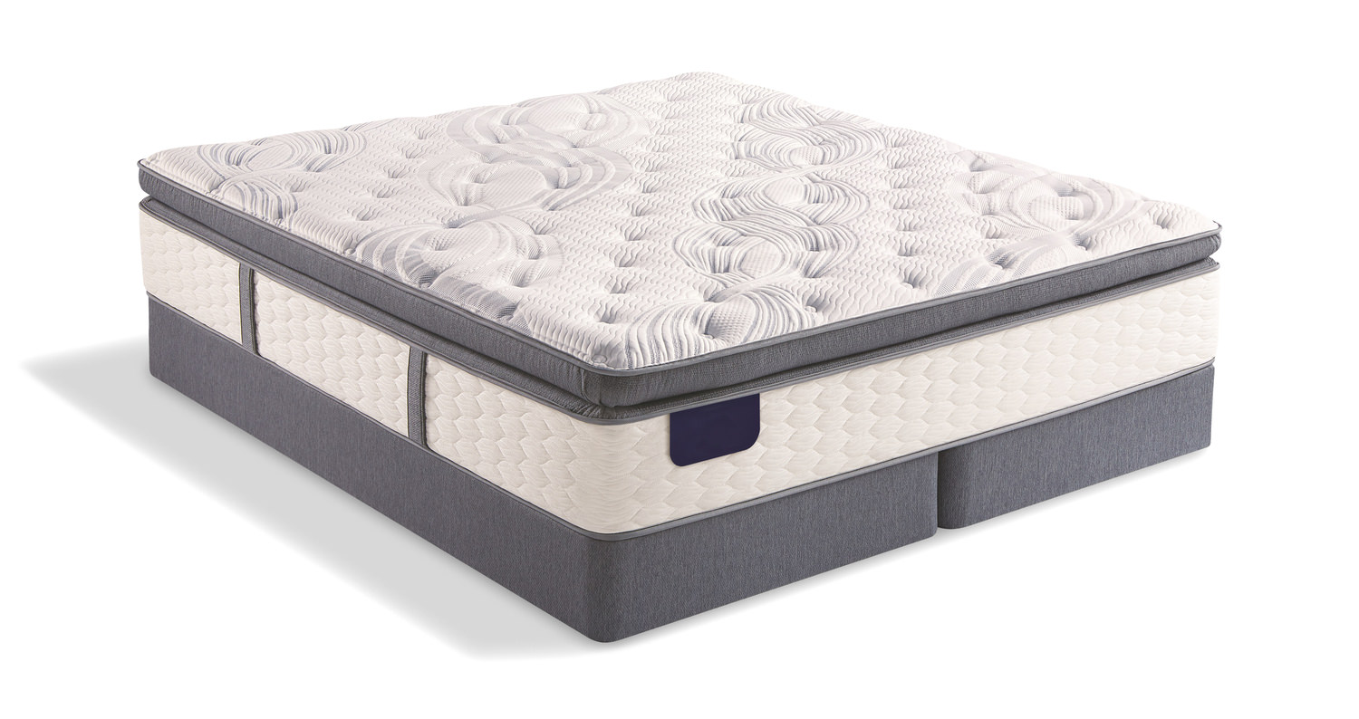 Farmstead Pillow Top Queen Mattress Set With Low Profile Foundation By Serta Hom Furniture