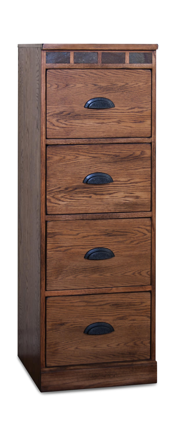 sedona 4 drawer tall file cabinet | hom furniture