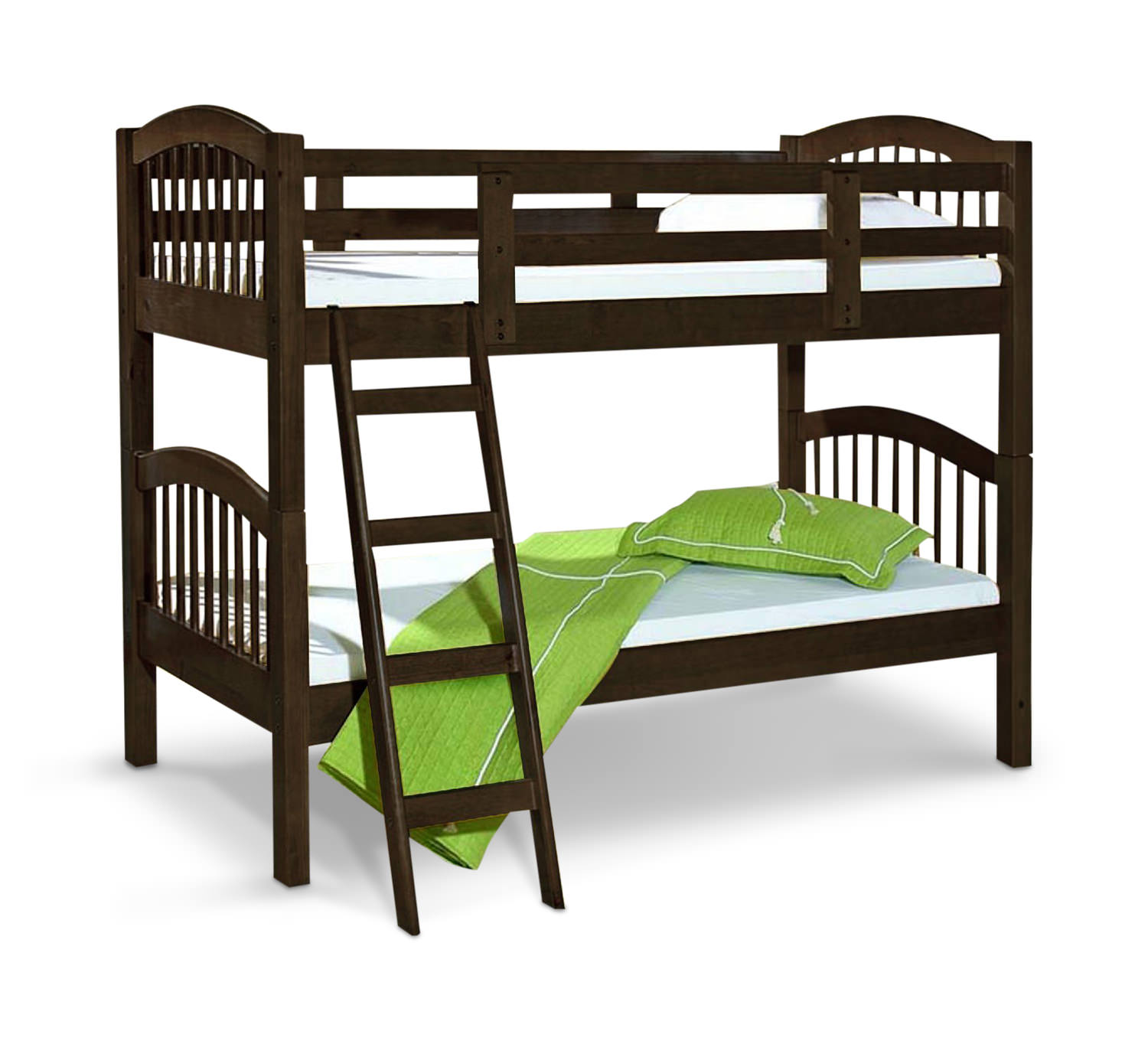 Bunk Bed Pinehurst Ii Twin Over Twin Bunk Bed Espresso Finish Hom