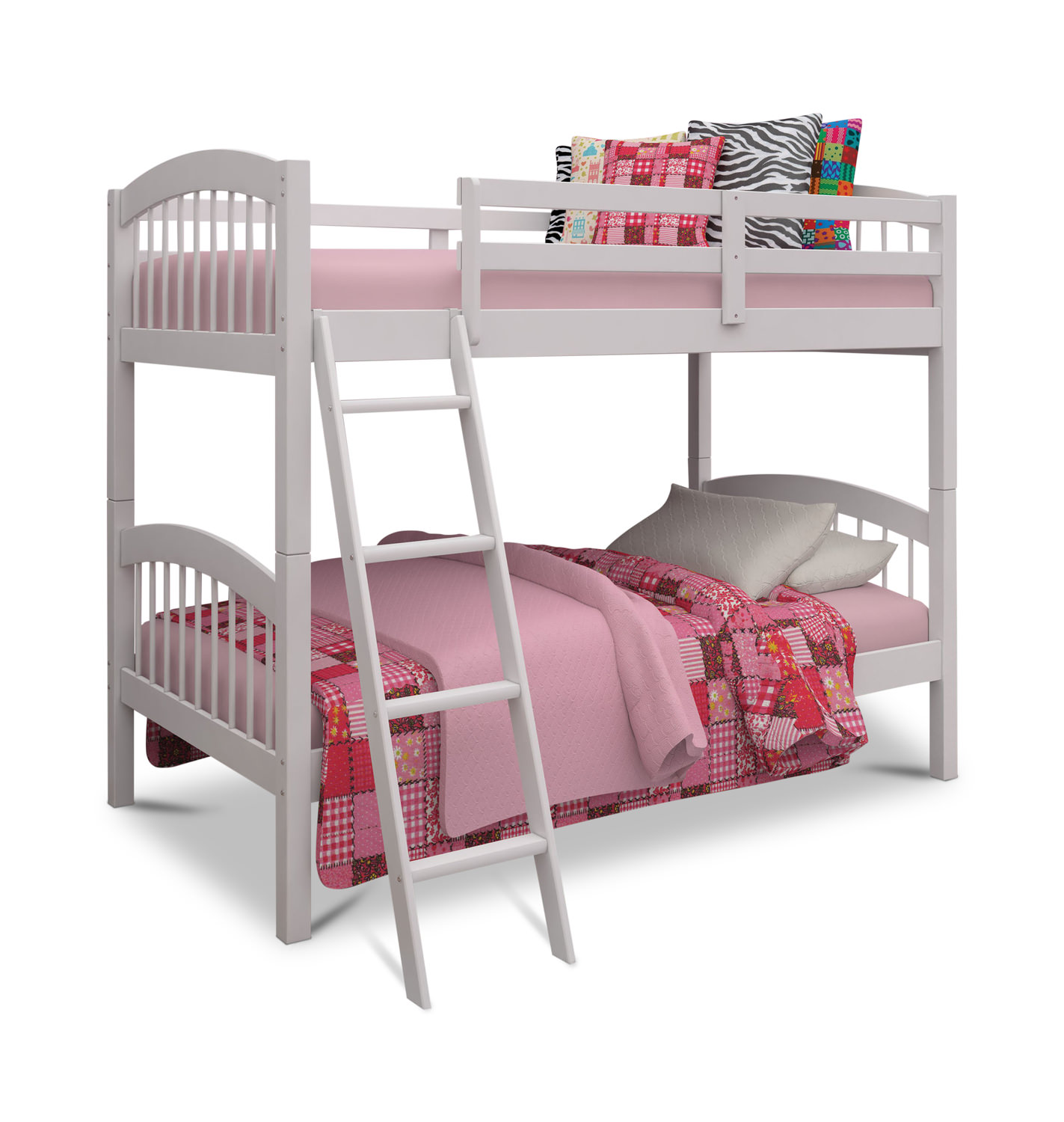 Twin bunk beds white - Pinehurst Ii Twin Over Twin Bunk Bed White Finish