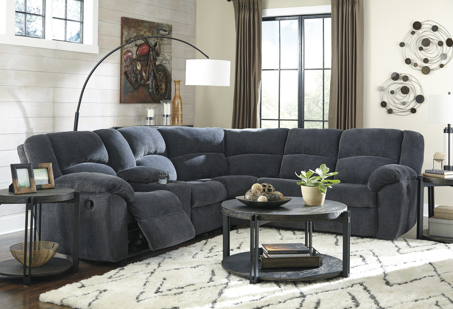 texas 2piece reclining sectional