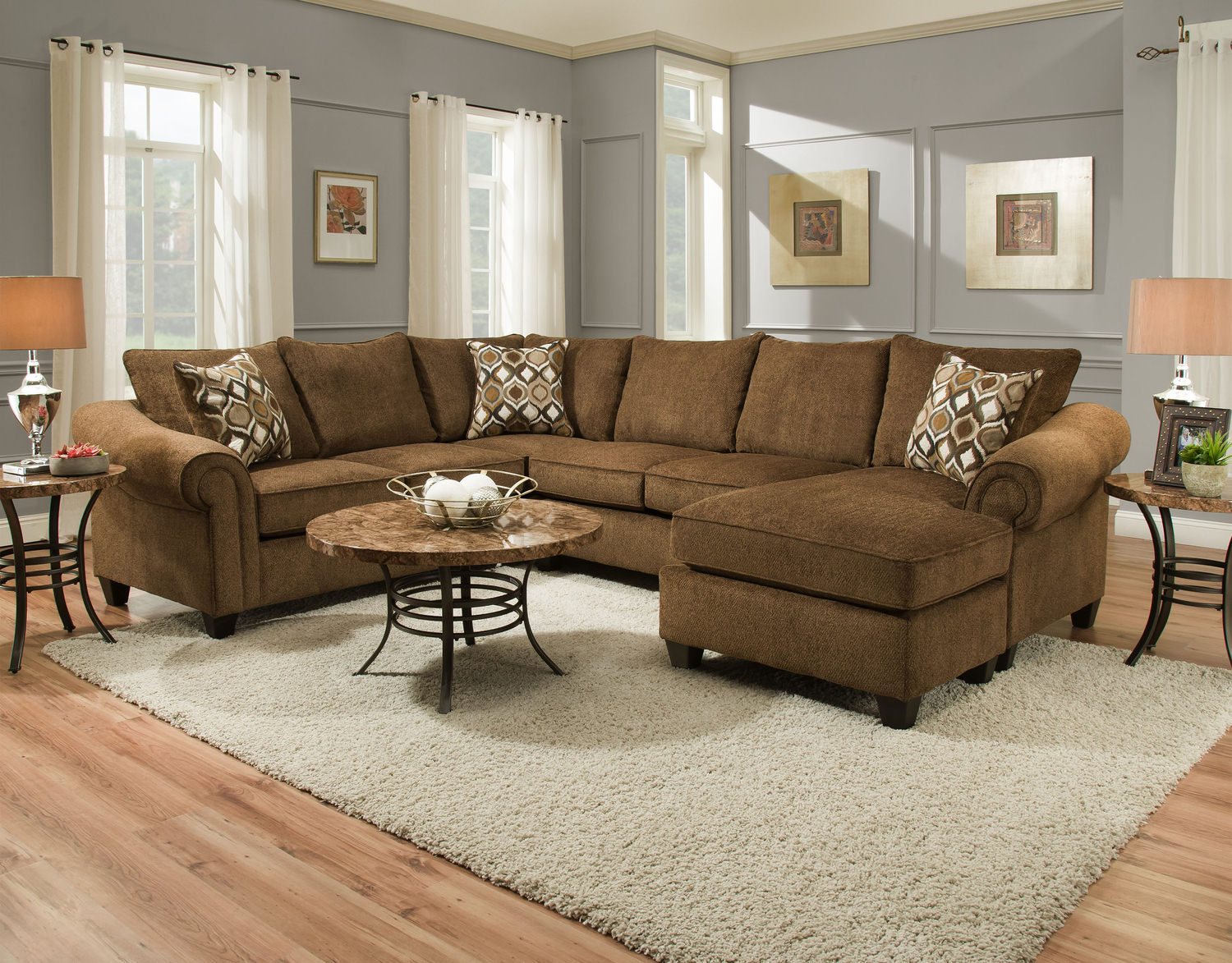 August 2 Piece Sectional HOM Furniture