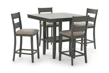 Image Loft Counter Table With 4 Stools