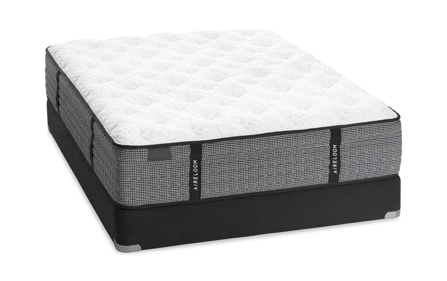 La Collina Plush Mattress Set With Low Profile Foundation By Aireloom Hom Furniture