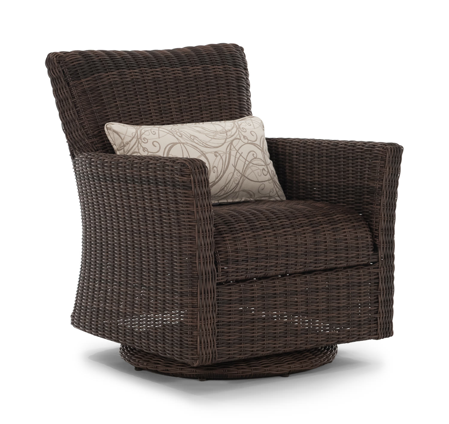 Cana Swivel Lounge Outdoor Wicker by Thomas Cole