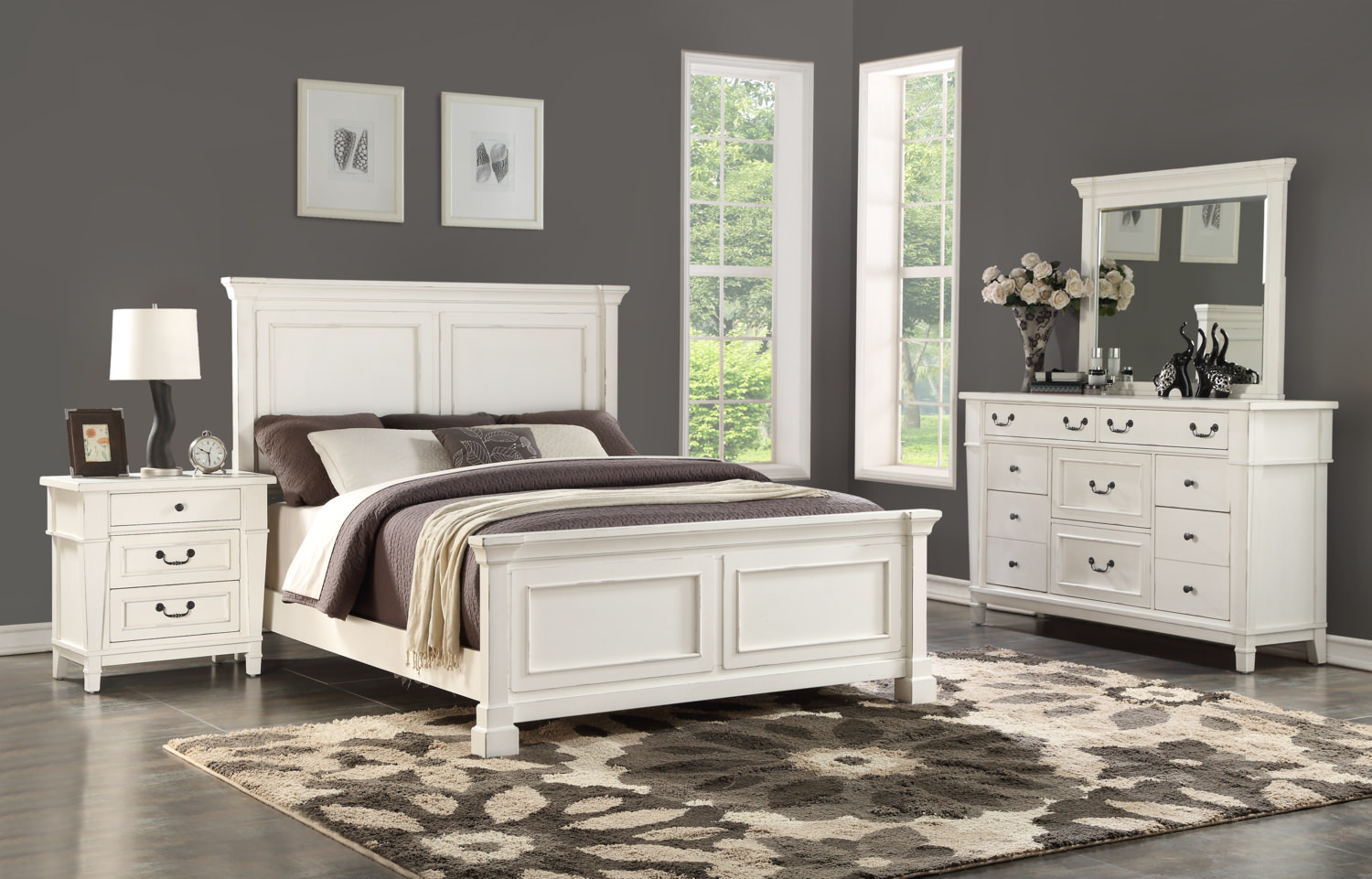 Stoney Creek Bedroom Suite With 3 Drawer By Hom Furniture