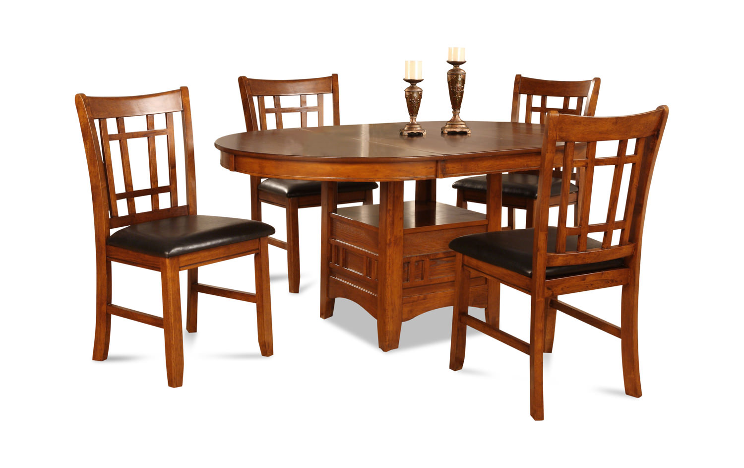 Mission Park Dining Table And 4 Side Chairs ... Part 46
