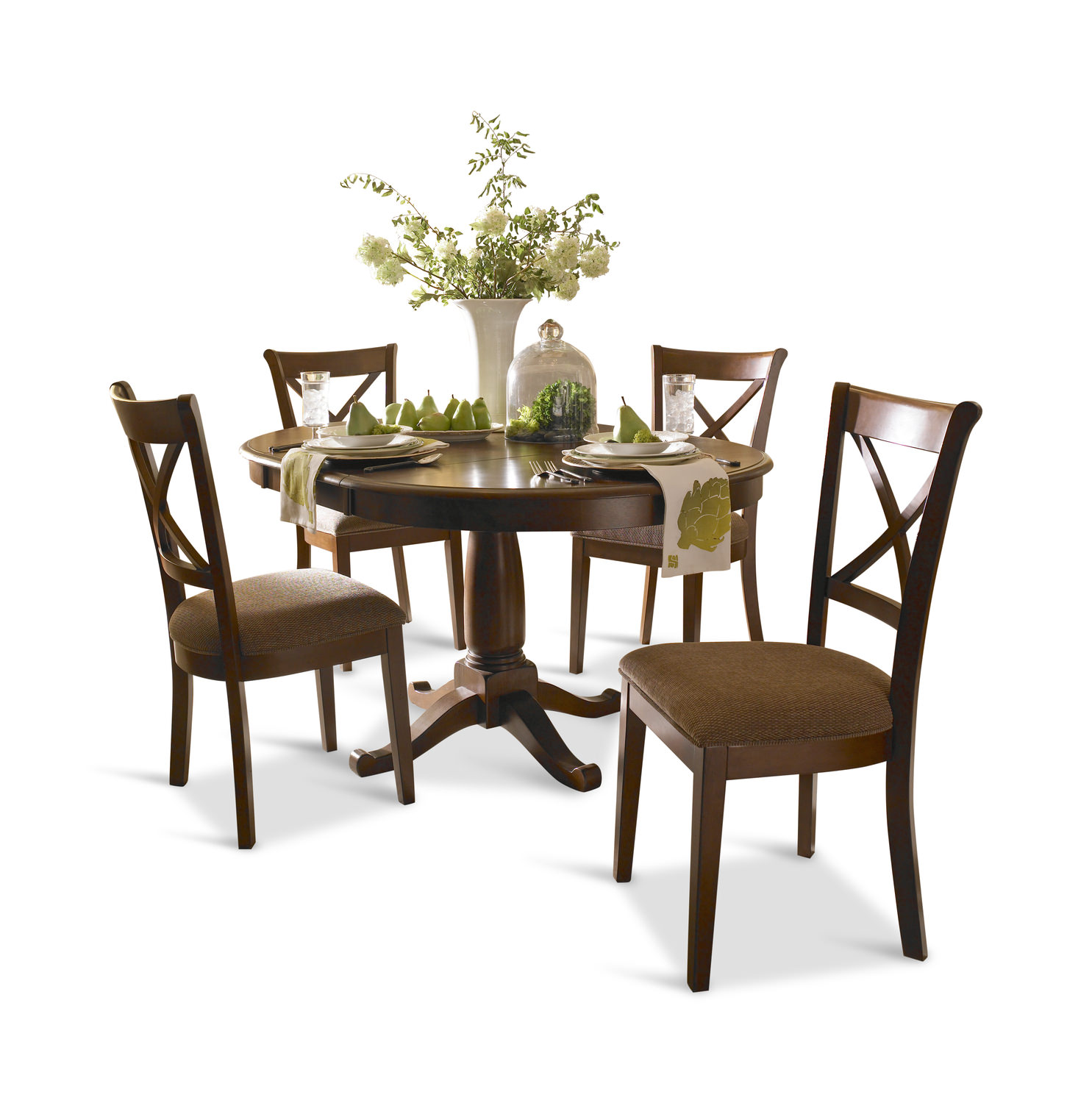 Desoto 42u2033 Round Table With 4 Side Chairs ...