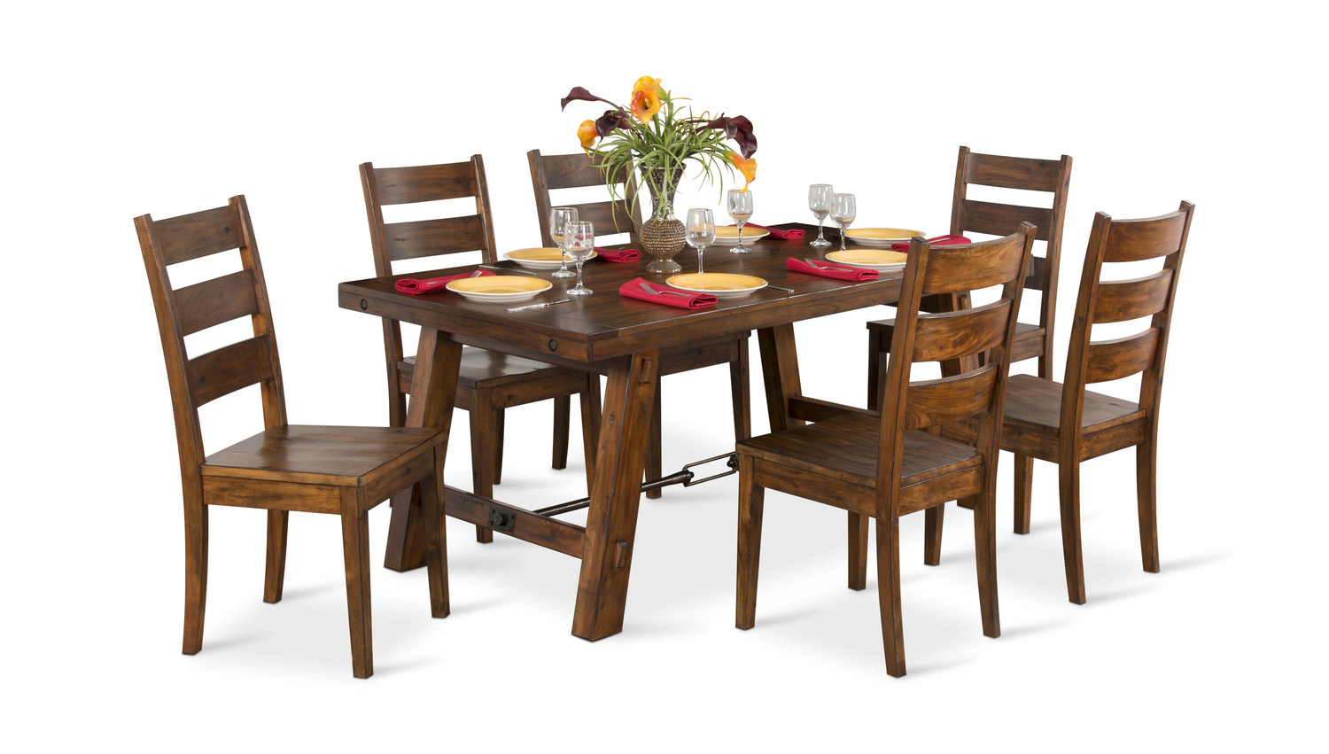 Mahogany Tuscany Table With 4 Side Chairs Hom Furniture