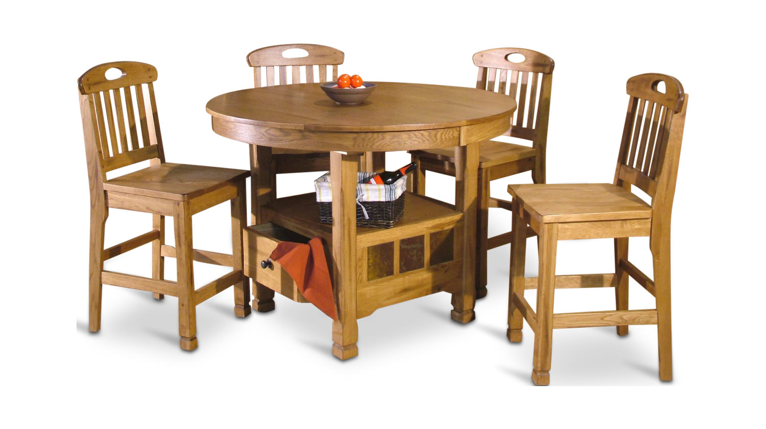 Sedona Counter High Table With 4 Counterstools ...